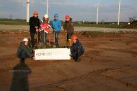Spatenstich III von links nach rechts: Susanne Koschker, Stefan Mieth, Attila Könnyü, Hannes Clauß, Frank Beger, Jan Stoye