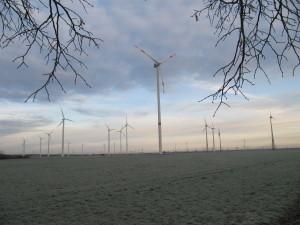 Streumener Windpark im Winter