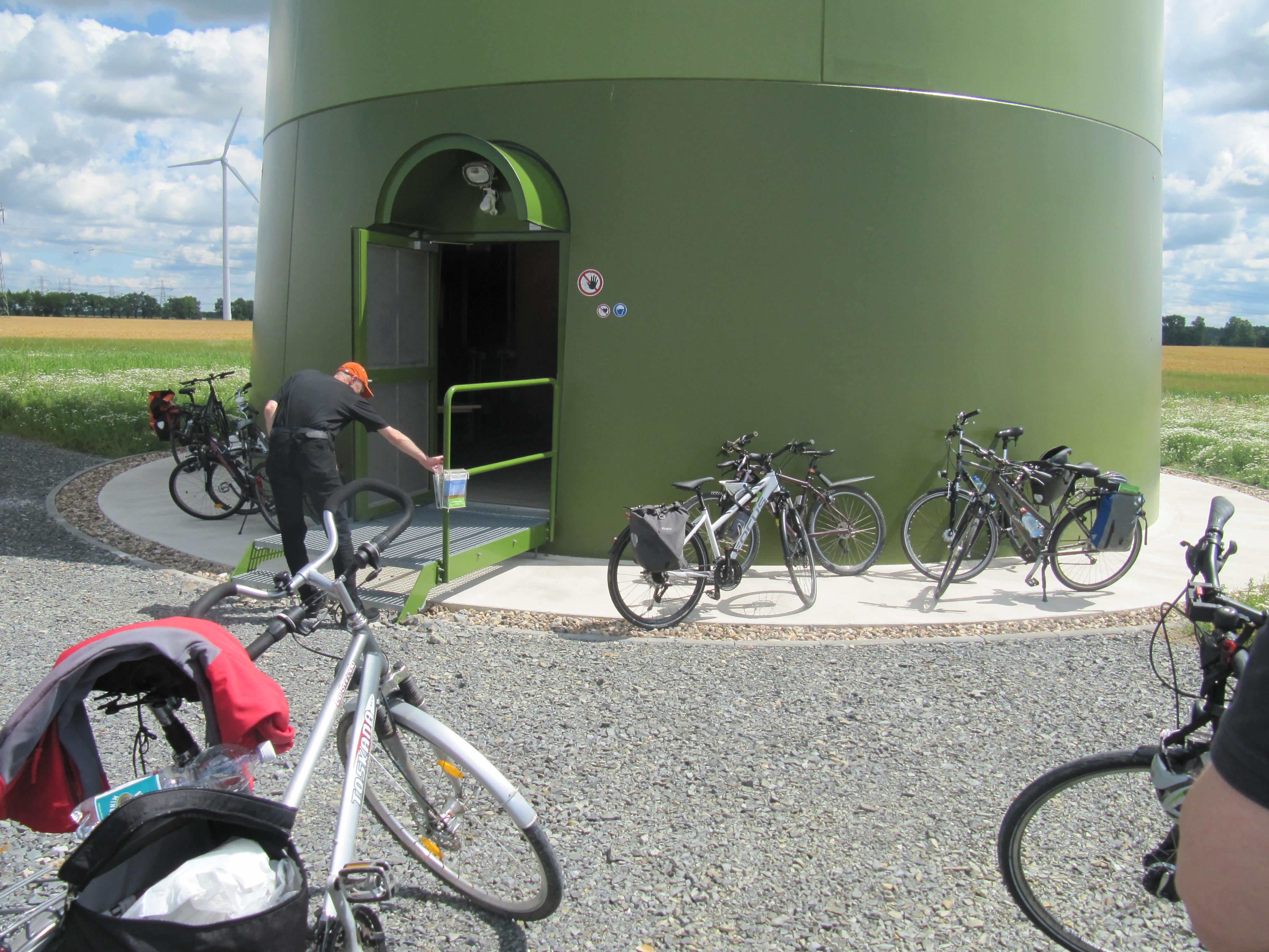 Fahrradtour zum Windrad